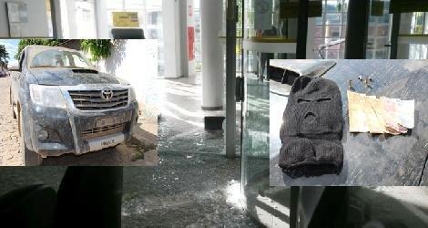 [ Bandidos explodem cofre de agência do Banco do Brasil em Rubim (MG); veiculo usado é localizado em Santa Rita/Itanhém ]