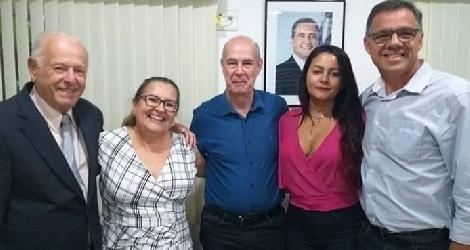 [ Deputado Jurandy Oliveira parabeniza Prefeita Jádina Paiva pelo seu aniversário ]