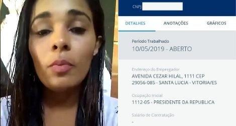 [ Mulher descobre ser 'presidente da República' ao ter auxílio de R$ 600 negado ]